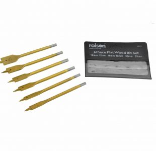 Flat Wood drill Bit Set - 6 Pieces