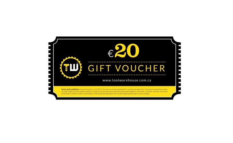 20€ Toolwarehouse Voucher