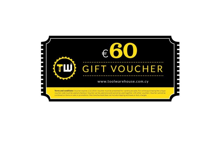 60€ Toolwarehouse Voucher » Toolwarehouse » Buy Tools Online