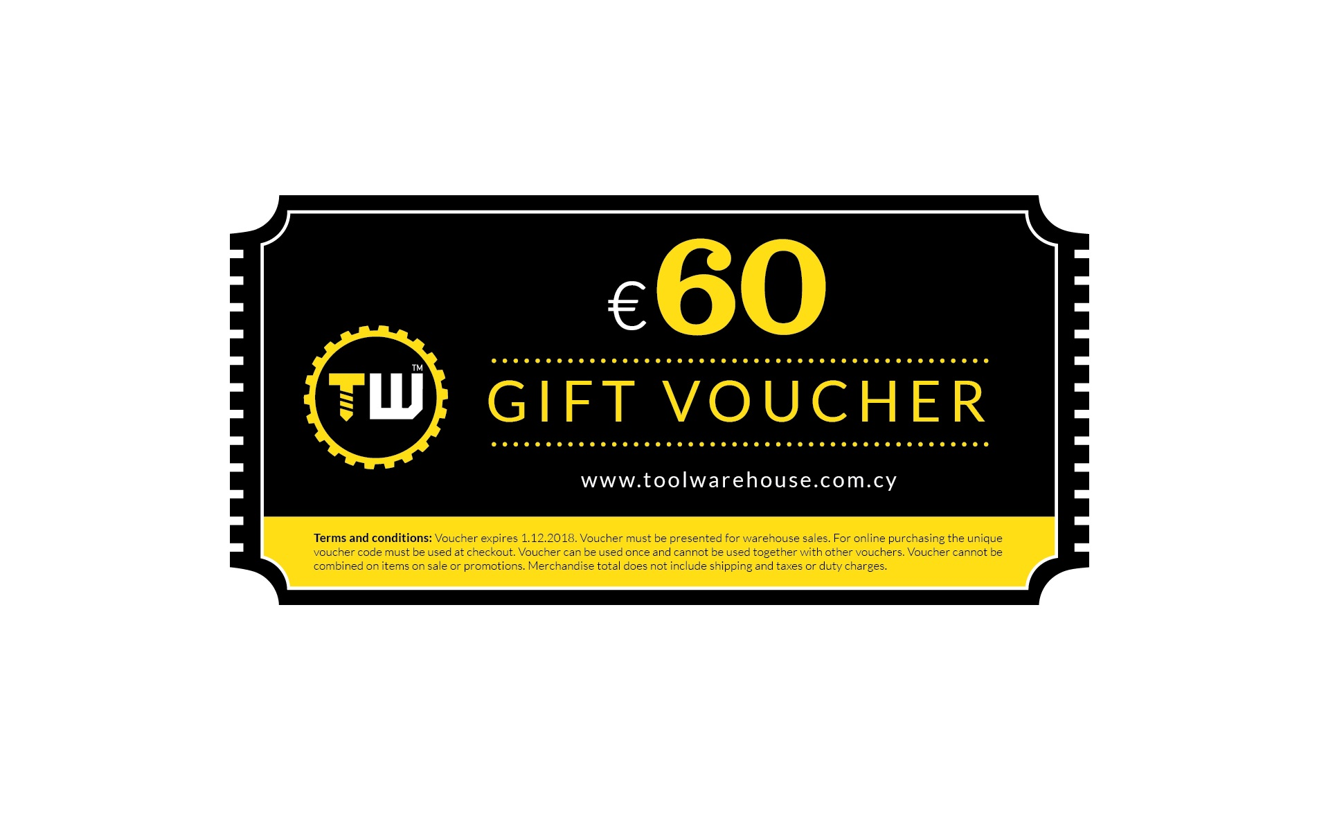 60€ Toolwarehouse Voucher