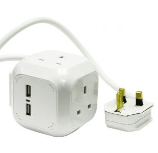 Cube 4 Way Socket / USB » Toolwarehouse » Buy Tools Online