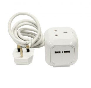 Cube 4 Way Socket / USB