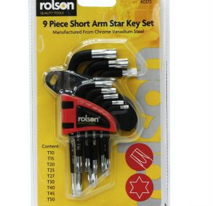 9pc Short arm star key set