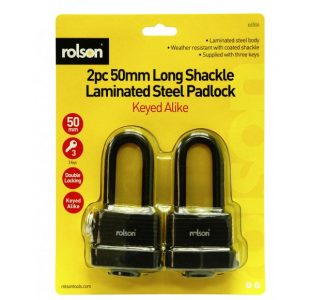 2pc Long Shackle Padlock