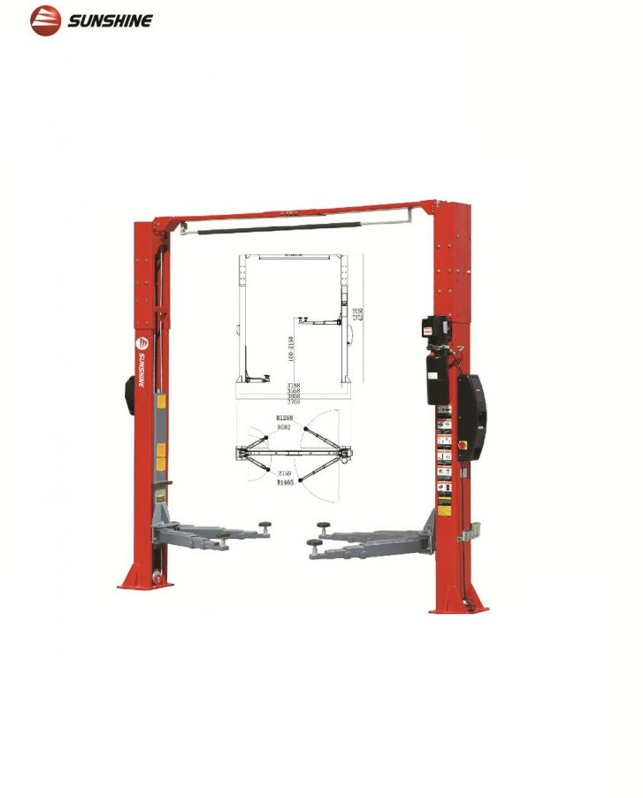 Two-Post Clear Floor Lift 4.5T