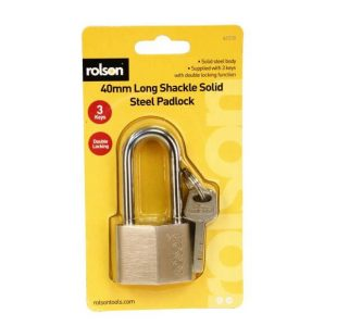 40mm Long Solid Steel Padlock